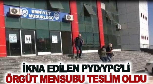 İkna edilen PYD/YPG'li örgüt mensubu teslim oldu