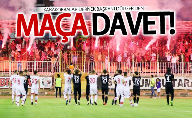 Karakobralar'dan Anadolu Bağcılarspor maçına davet
