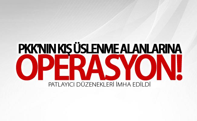PKK'nın kış üslenme alanlarına operasyon
