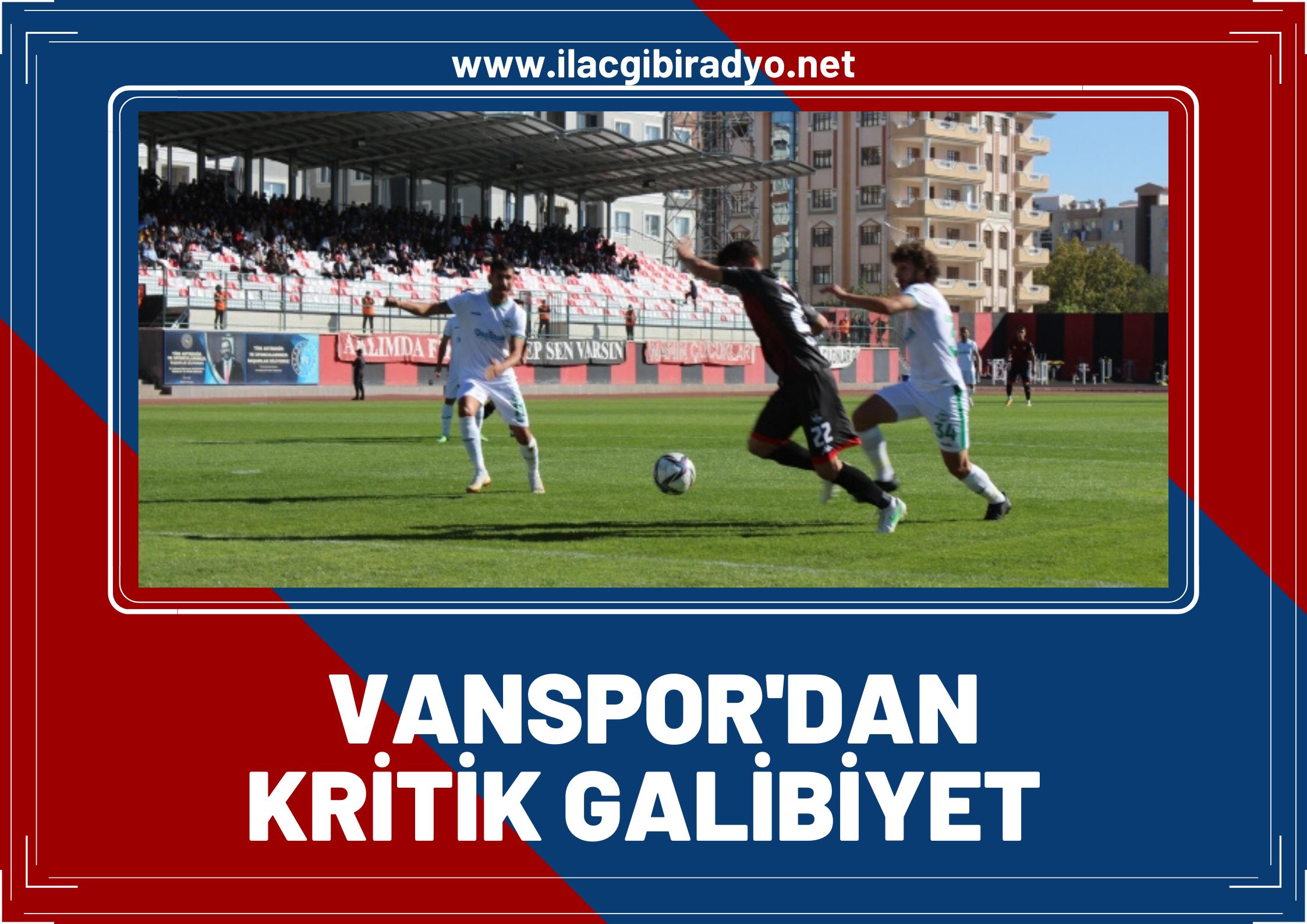 Vanspor Evinde 2-0 Kazandı