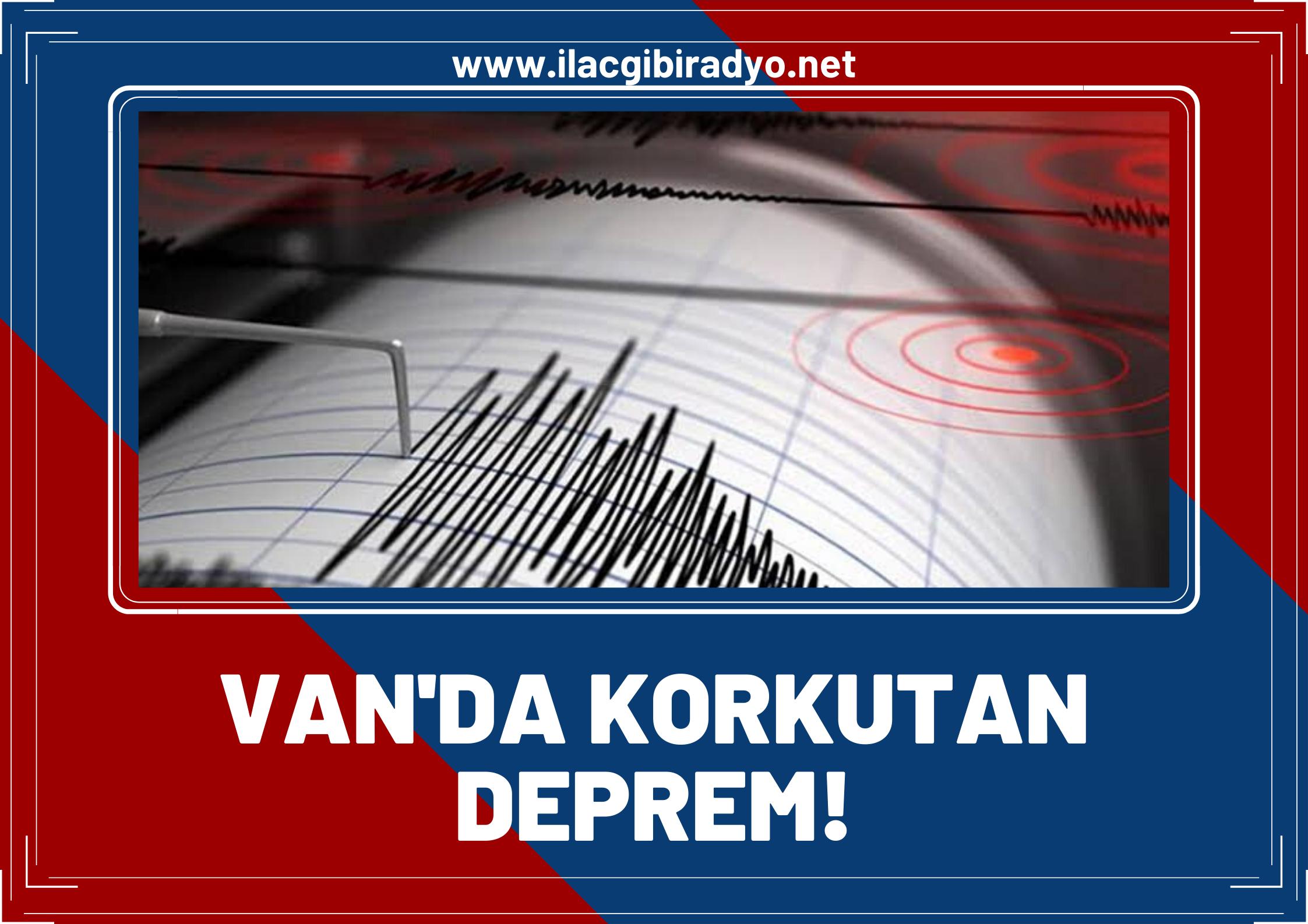 Van'da korkutan deprem... Van son 1 saatte art arda 7 depremle sarsıldı