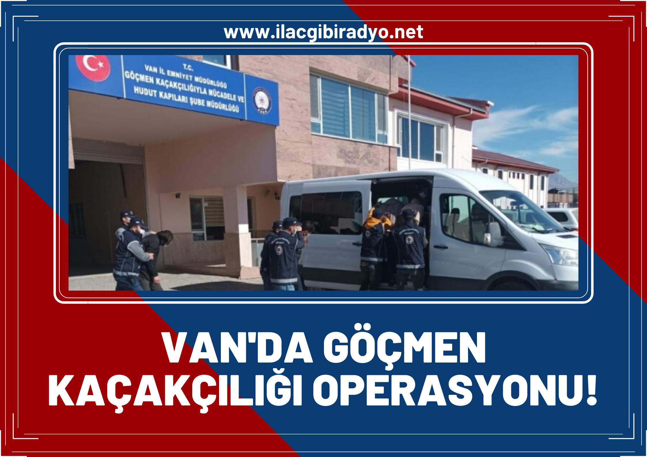 Van'da göçmen kaçakçılığı operasyonu! 8'i yabancı 18 organizatör yakalandı