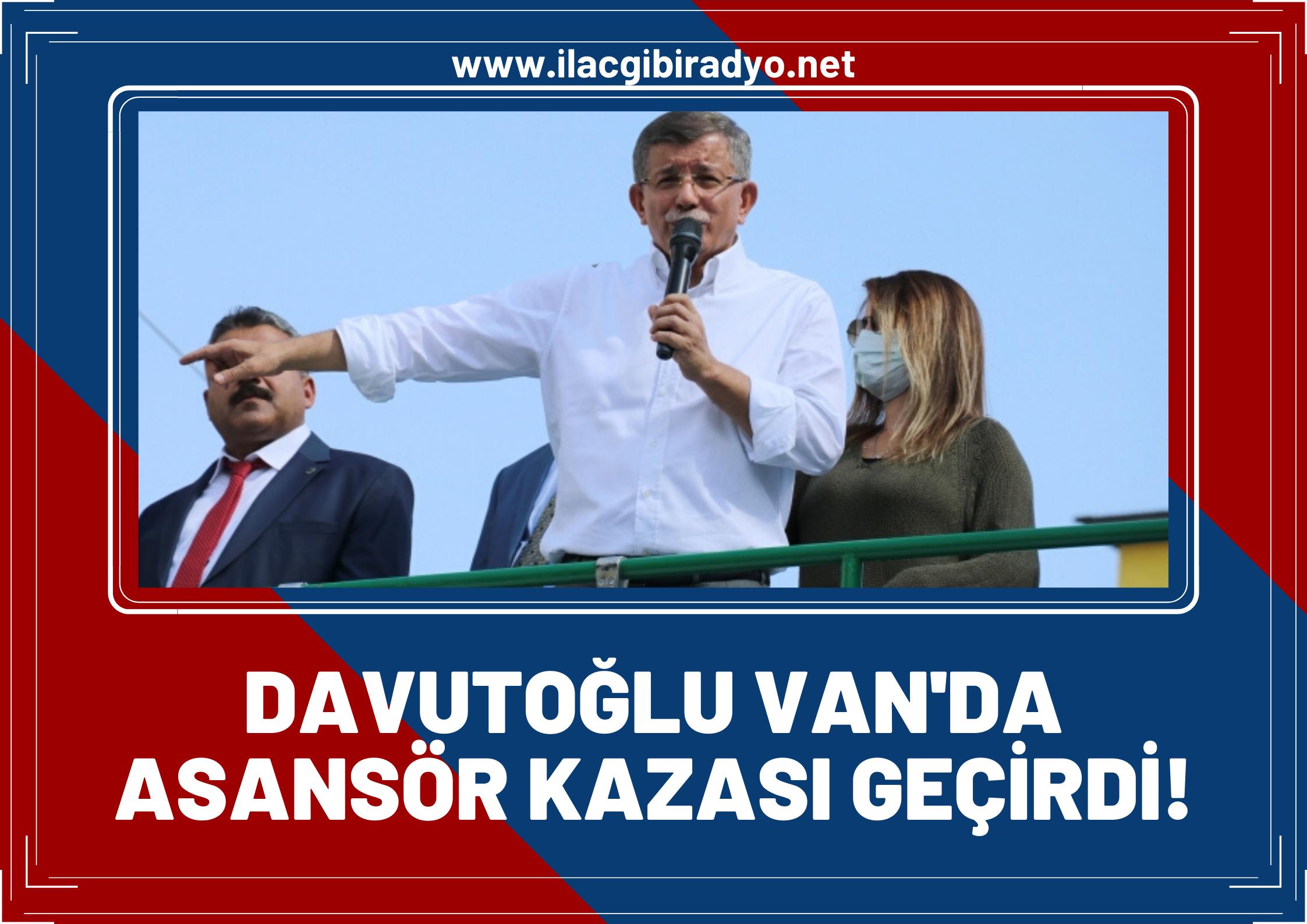Davutoğlu Van'da asansör kazası geçirdi! Partiden sağlık durumu ile ilgili açıklama geldi...