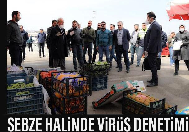 Van'daki sebze ve meyve halinde korona virüs denetimi