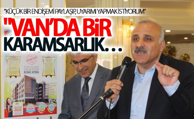 """Vali Zorluoğlu:""""küçük bir endişemi paylaşıp, uyarımı yapmak istiyorum"""""""