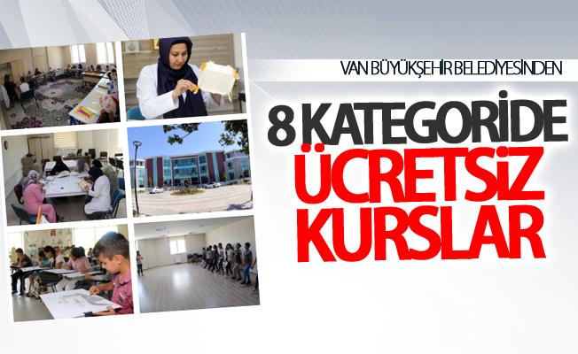 Van Büyükşehir Belediyesinden 8 kategoride ücretsiz kurslar