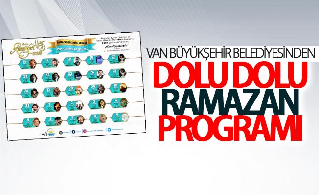 Van Büyükşehir Belediyesinden dolu dolu Ramazan programı