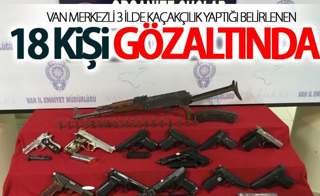 Van merkezli 3 ilde kaçakçılık yaptığı belirlenen 18 kişi gözaltında
