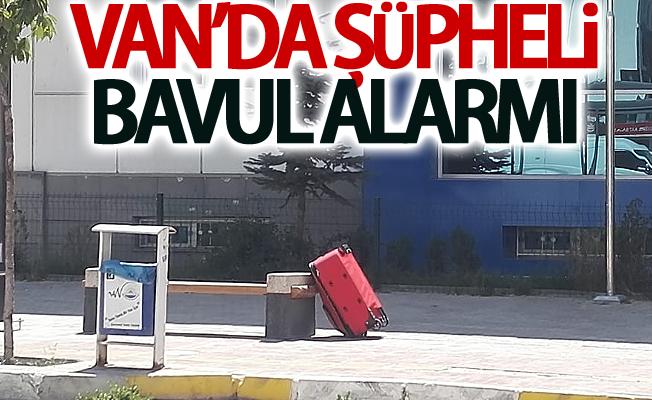 Van'da şüpheli bavul alarmı