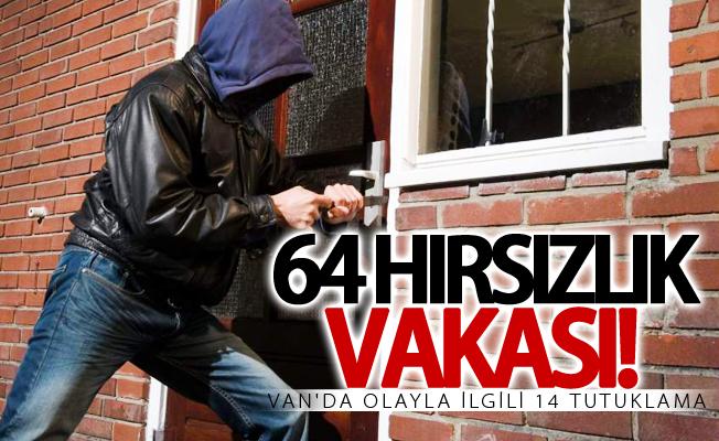Van'da 14 şüpheli tutuklandı