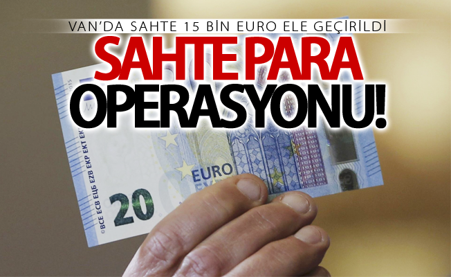 Van'da sahte 15 bin euro ele geçirildi