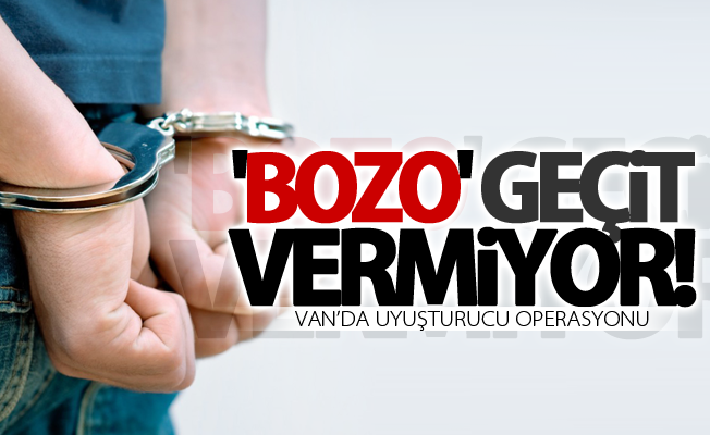 Van'da uyuşturucu operasyonu! 2 gözaltı