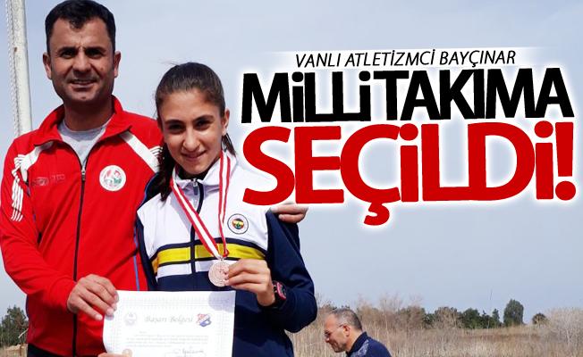 Vanlı atletizmci Zeynep Bayçınar milli takıma seçildi